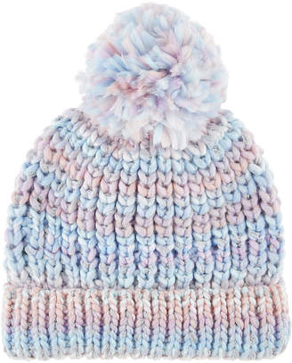 Monsoon Maggie Rainbow Yarn Bobble Hat