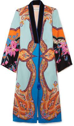 Etro Printed Satin Coat - Blue