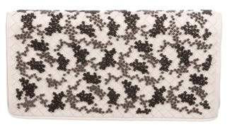 Bottega Veneta Bouquet Flocked Velvet Intrecciato Clutch
