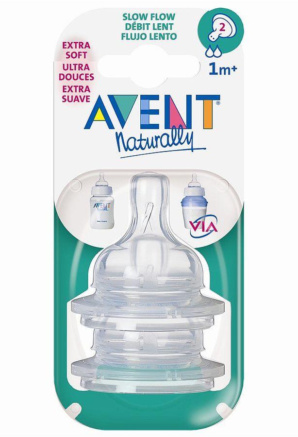 Avent Naturally slow-flow bottle nipple set