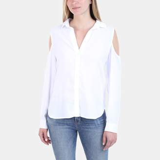 Bella Dahl Cold Shoulder Button-Down Shirt
