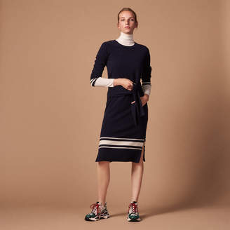 Sandro Trompe lil knitted dress