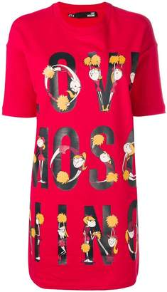 Love Moschino red T-shirt dress