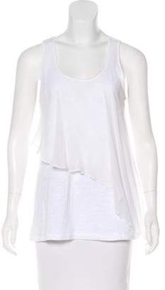 Elizabeth and James Silk-Paneled Sleeveless Top