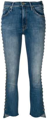 Mother stud embellished jeans