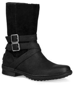 UGG Lorna Faux Fur Leather and Suede Boots