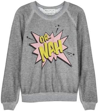 Wildfox Couture Or Nah Junior Jersey Sweatshirt