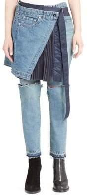 Sacai Pleated Skirt& Jeans Combo