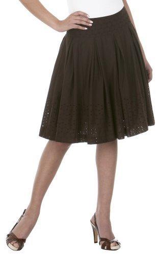 Isaac Mizrahi for Target® Eyelet Border Circle Skirt - Brown