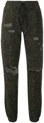 Alexander Wang leopard printed jogger trousers