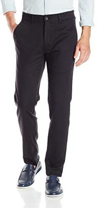 Haggar Men's in Motion Rambler Slim Fit Flat Front Athleisure Casual Pant