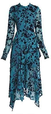 Chloé Women's Devore Velvet Midi Dress
