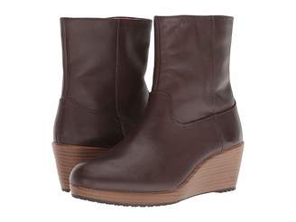 Crocs A-leigh Leather Bootie Women's Boots