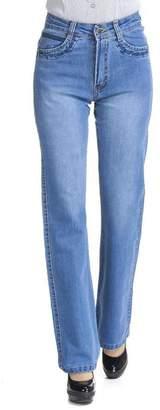 Sunfan Women's High Rise Relaxed Bootcut Jeans