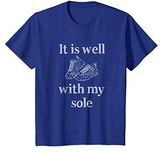 Funny Running Motivation T-Shirt   It Is Well With My Sole
