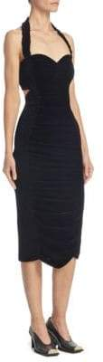 Stella McCartney Velvet Halter Midi Dress