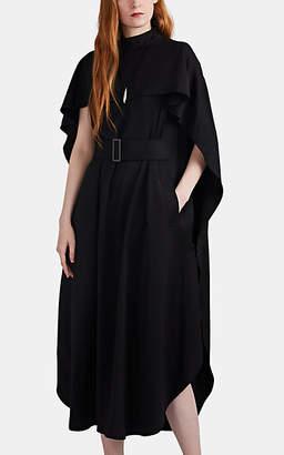 AKIRA NAKA Women's Belted Cape Dress - Black