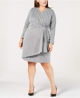 a16d28b6b66 NY Collection Plus   Petite Plus Size Faux-Wrap Dress