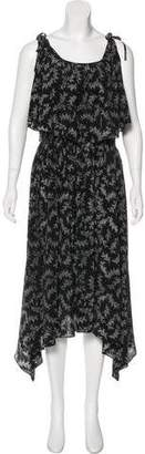 Band Of Outsiders Cold-Shoulder Midi Dress