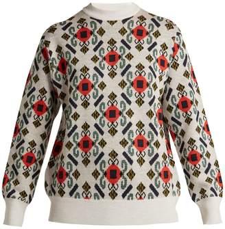 Toga Intarsia-knit wool sweater
