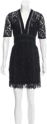 Veronica Beard Sage Seamed Lace Mini Dress w/ Tags