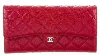 Chanel Caviar Quilted Travel Wallet