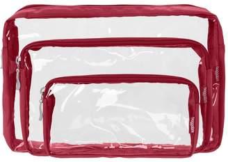 Baggallini Clear Cosmetic Trio Bags