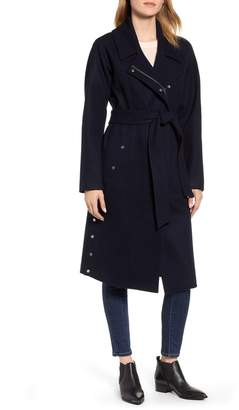 Andrew Marc Wool Blend Trench Coat