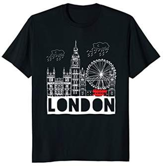 London Souvenir Tshirt Cool London Gift Tee For Men Women