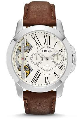 """Fossil Men's ME1144 """"Grant"""" Stainless Steel Watch with Leather Band"""
