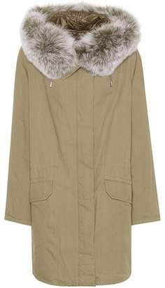 Yves Salomon Army Fur-trimmed cotton parka