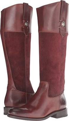 Frye Women's Jayden Button Tall Leather and Suede Riding Boot