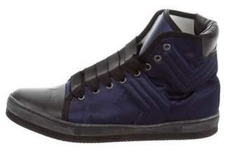 Lanvin Cap-Toe High-Top Sneakers