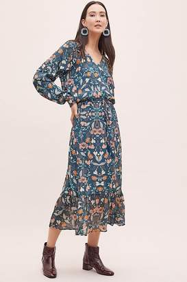 Kachel Winter Floral-Print Maxi Dress