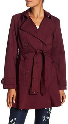 Kate Spade Belted Double Breasted Raincoat