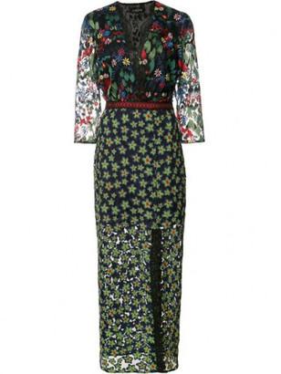 Saloni Jennifer-F Floral Midi Dress $795 thestylecure.com