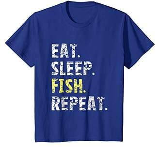 Eat Sleep Fish Repeat T-Shirt - Funny Fishing Shirt Gift