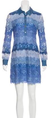 Diane von Furstenberg Lace T-Shirt Dress