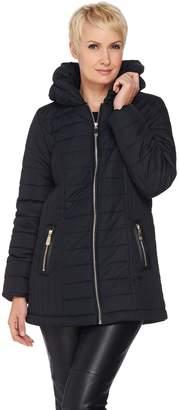 Dennis Basso Pillow Collar Quilted Puffer Jacket