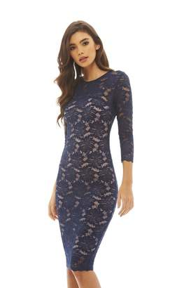 AX Paris AxParis Women's Contrast Crochet Midi Dress(, Size:)