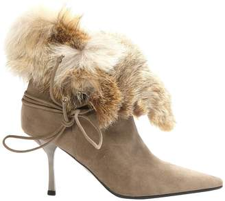 Rodolphe Menudier Grey Suede Ankle boots