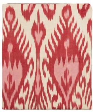 Les Ottomans - Ikat Silk Blend Table Runner - Pink Print