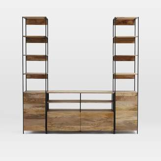 west elm Industrial Modular Media Set With Open + Closed Storage