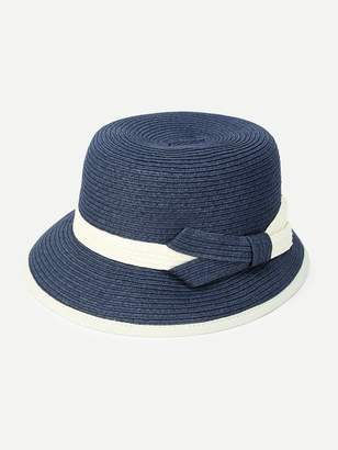 Shein Two Tone Band Straw Hat