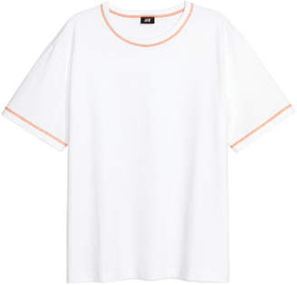 H&M Thick Cotton Jersey T-shirt - White