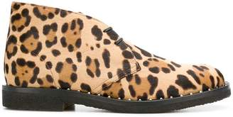 Valentino leopard print ankle boots