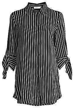 Beatrice. B Women's Tie-Sleeve Striped Blouse