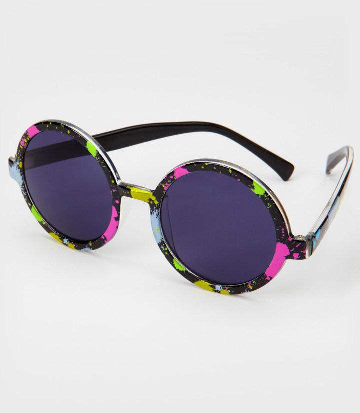 Fred Flare Round Paint Splatter Sunglasses