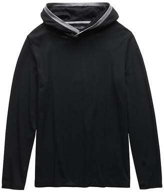Banana Republic Luxury-Touch Hoodie with Contrast Trim