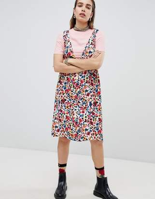 Love Moschino Floral Print Tunic Dress with T-Shirt Underlayer